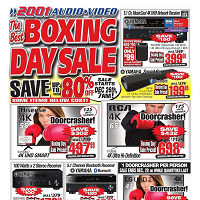 2001 Audio Video Boxing Day Sale December 29 - January 4 2018