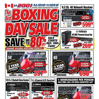 2001 Audio Video Boxing Day Sale December 24 - January 2 2020