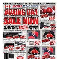 2001 Audio Video Flyer Boxing Week Sale December 28 - January 3 2019