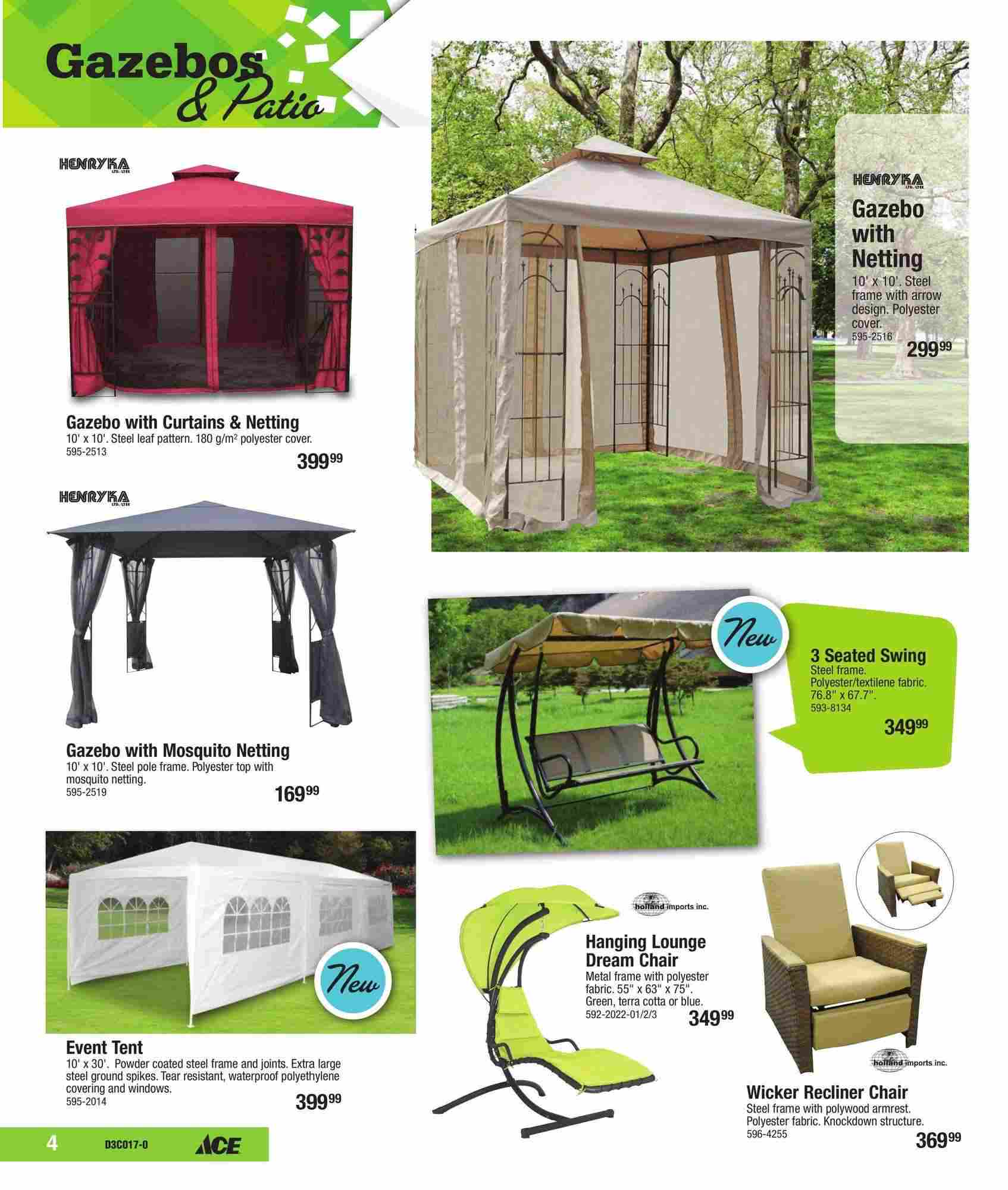 Ace Hardware Canada Outdoor Living Flyer (ON) May 1 - 27 2017 on Ace Outdoor Living id=68953