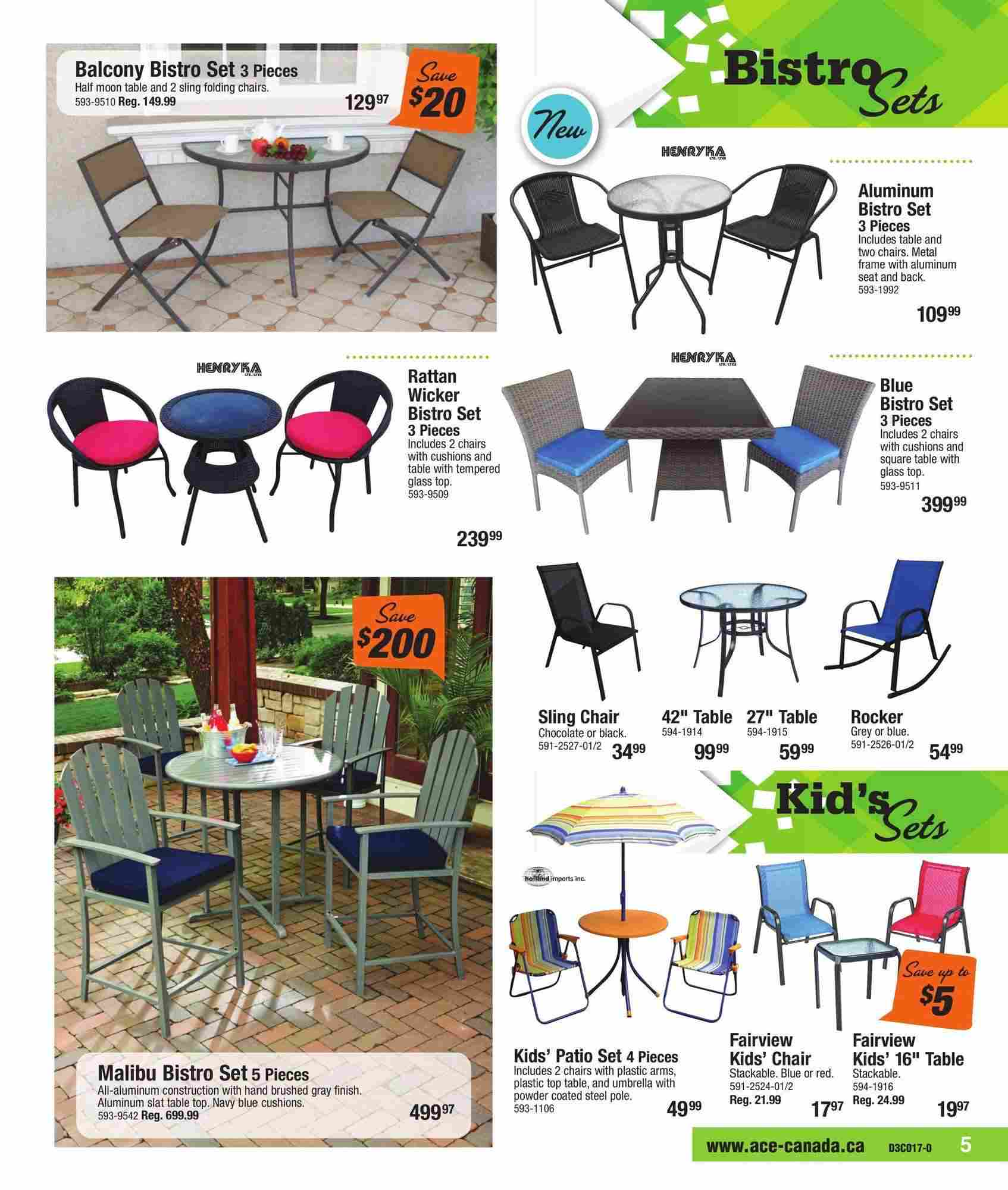 Ace Hardware Canada Outdoor Living Flyer (ON) May 1 - 27 2017 on Ace Outdoor Living id=93870