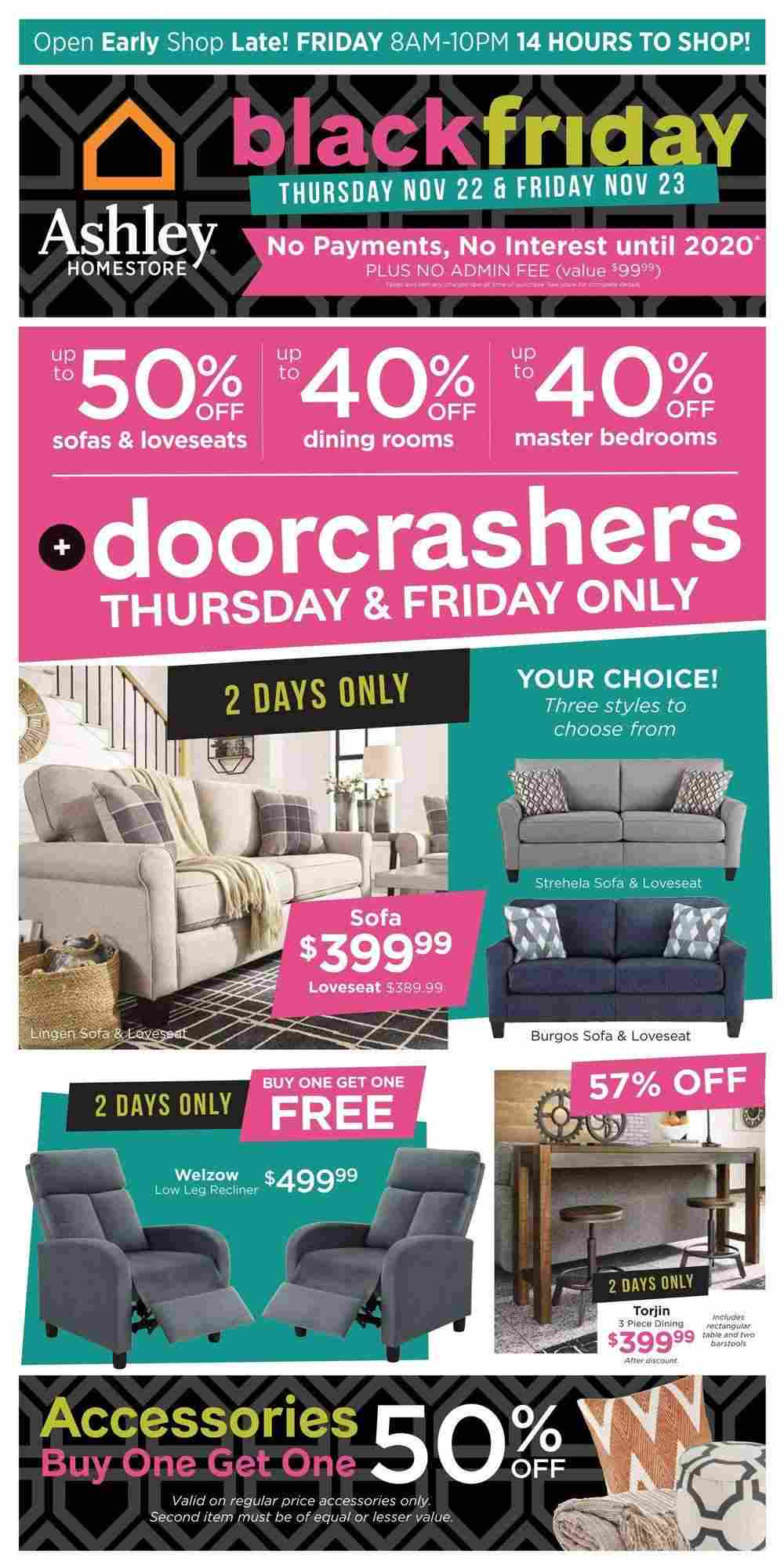 Ashley Furniture Homestore Flyer On Black Friday Sale November 22