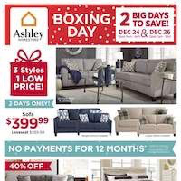 Ashley Furniture Homestore Flyer Boxing Day Sale December 24 - 26 2018