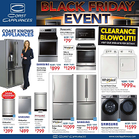 Coast Appliances November 15 - 28 2018