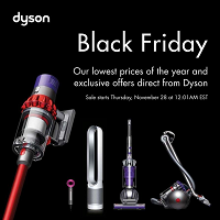 Dyson Canada Black Friday November 28 - December 1 2019