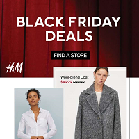 H&M Black Friday November 29 - December 2 2019