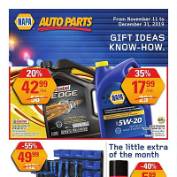NAPA Auto Parts Blue Friday November 11 - December 31 2019