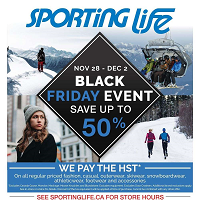 Sporting Life Black Friday November 28 - December 2 2019