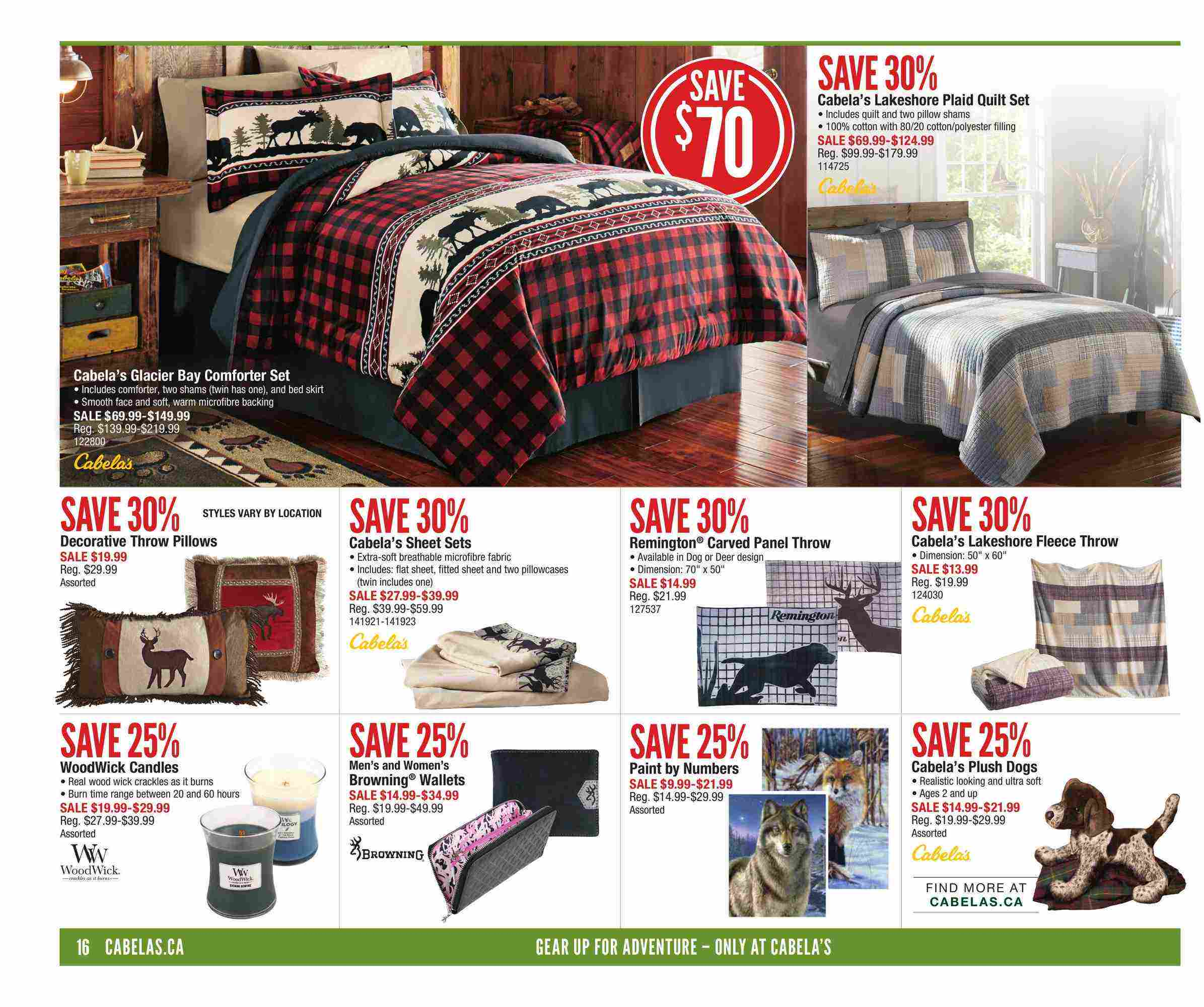 Cabela's Canada Flyer (AB) September 21 - October 4 2017