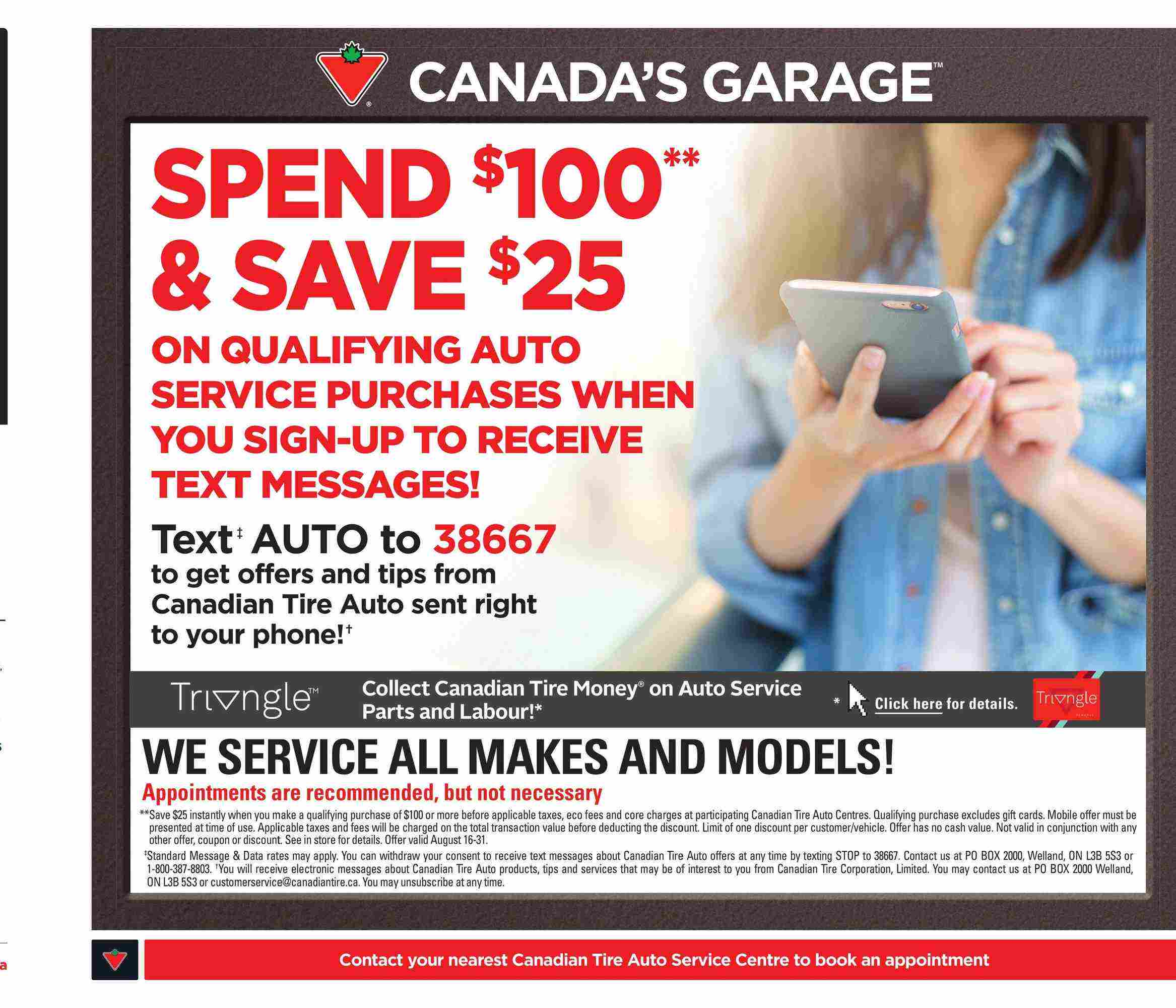 Canadian Tire Flyer (ON) August 31 - September 6 2018