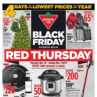 Canadian Tire Black Friday November 28 - December 1 2019