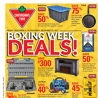 Canadian Tire Flyer Boxing Week Deals December 22 - 28 2017