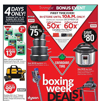 Canadian Tire Boxing Week Deals December 26 - January 2 2020