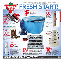 Canadian Tire Flyer Merry Madness Sale December 29 - January 4 2018