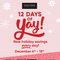 Chatters Salon December 3 - January 3 2021