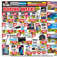 Factory Direct Boxing Week Sale December 26 - January 1 2020