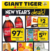 Giant Tiger Flyer New Year Deals December 26 - January 2 2018