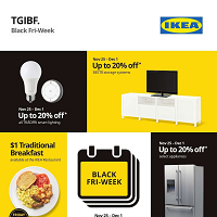IKEA Black Friday November 25 - December 5 2019