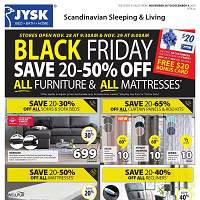 JYSK Black Friday November 28 - December 4 2019