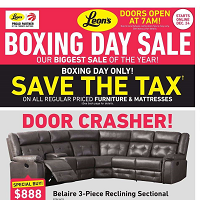 Leon's Boxing Day Sale December 24 - 31 2019