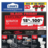 Lowe's Black Friday November 28 - December 4 2019