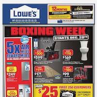 Lowe's Flyer (ON) Boxing Day December 27 - January 2 2019