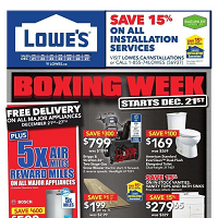 Lowe's Flyer Boxing Week Sal December 28 - January 3 2018