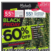 Michaels Black Friday November 29 - December 1 2019