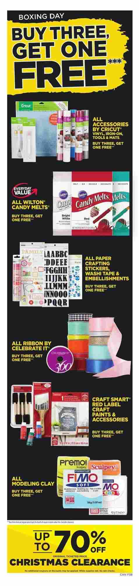 Michaels Flyer (ON) Boxing Day Sale December 26 - 28 2017