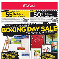 Michaels Boxing Day Sale December 26 - 28 2017