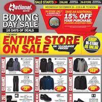 National Sports Boxing Day Sale December 24 - January 10 2019