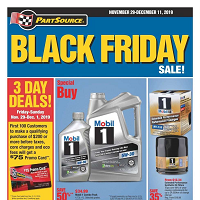 PartSource Black Friday November 29 - December 11 2019