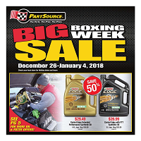 PartSource Boxing Week Sale December 26 - January 4 2018