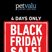 Pet Valu Black Friday November 28 - December 1 2019
