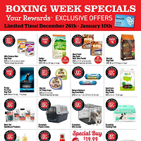 Pet Valu Flyer Boxing Week Specials December 26 - January 10 2018