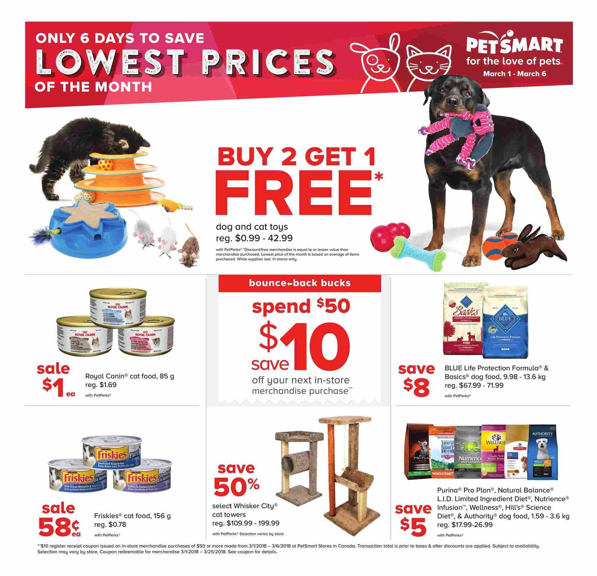 Deal Costco Canada Online Offers Valid From Feb 28 To Mar: PetSmart Flyer (ON) March 1