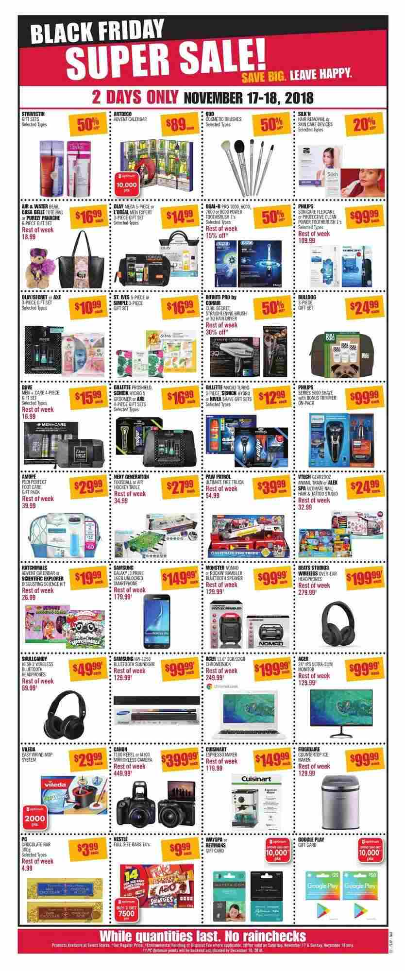 Shoppers Drug Mart Flyer (ON) Black Friday Super Sale