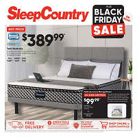 Sleep Country Canada Black Friday Sale November 27 - December 3 2019