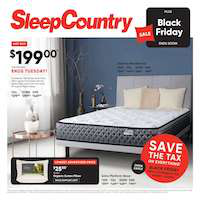 Sleep Country Canada Flyer November 24 - 27 2018