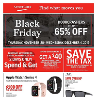 Sport Chek Black Friday November 28 - December 4 2019