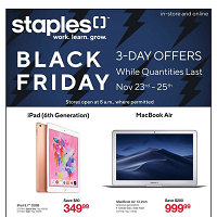 Staples Canada Flyer Black Friday 3-Day Offers November 23 - 27 2018