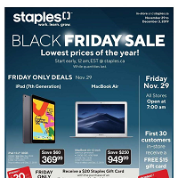 Staples Canada Black Friday Sale November 29 - December 3 2019