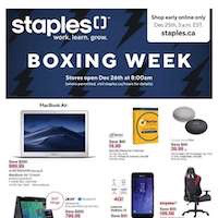 Staples Canada Flyer Boxing Week December 26 - January 1 2019