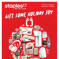 Staples Canada Gift Some Holiday Joy December 16 - 24 2020