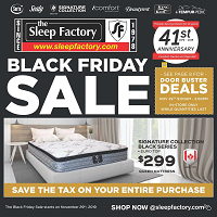 The Sleep Factory Black Friday Sale November 29 - December 20 2019
