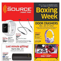 The Source Flyer Boxing Week Sale December 25 - January 3 2018