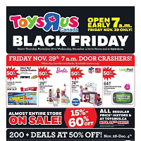 Toys R Us Black Friday November 28 - December 4 2019