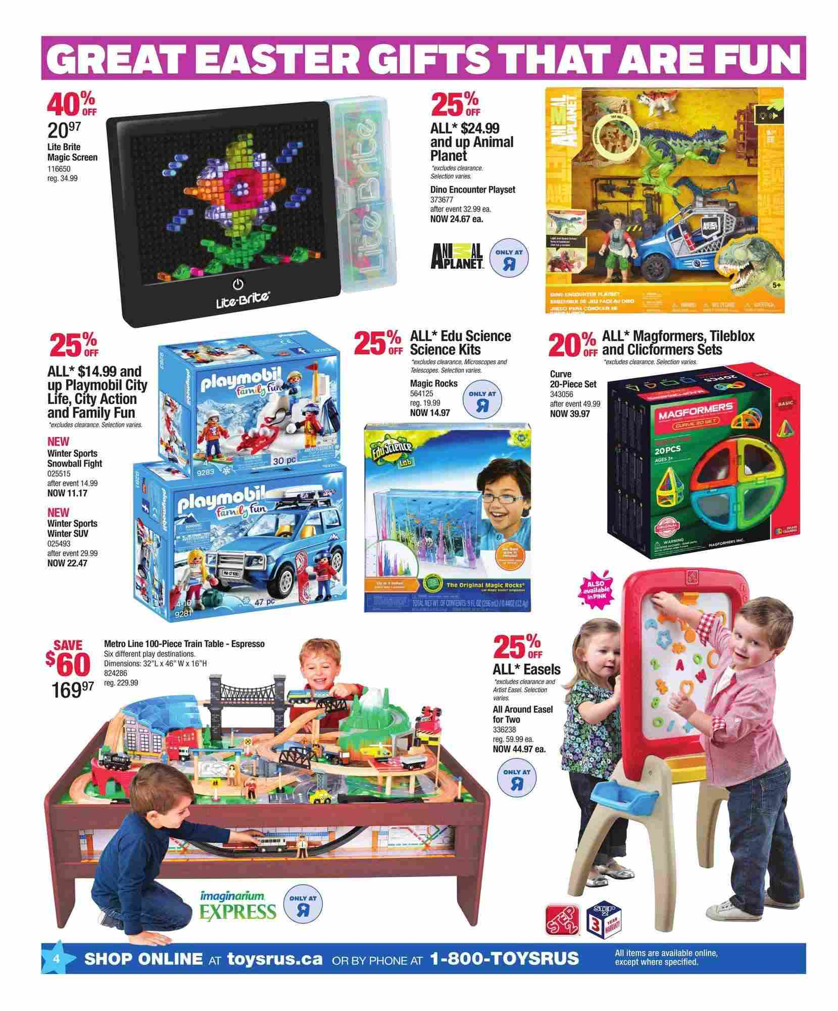 Toys R Us Flyer (ON) March 23 - April 1 2018