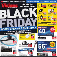 Visions Electronics Black Friday November 28 - December 5 2019