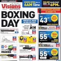Visions Electronics Flyer Boxing Day Sale December 27 - January 3 2019